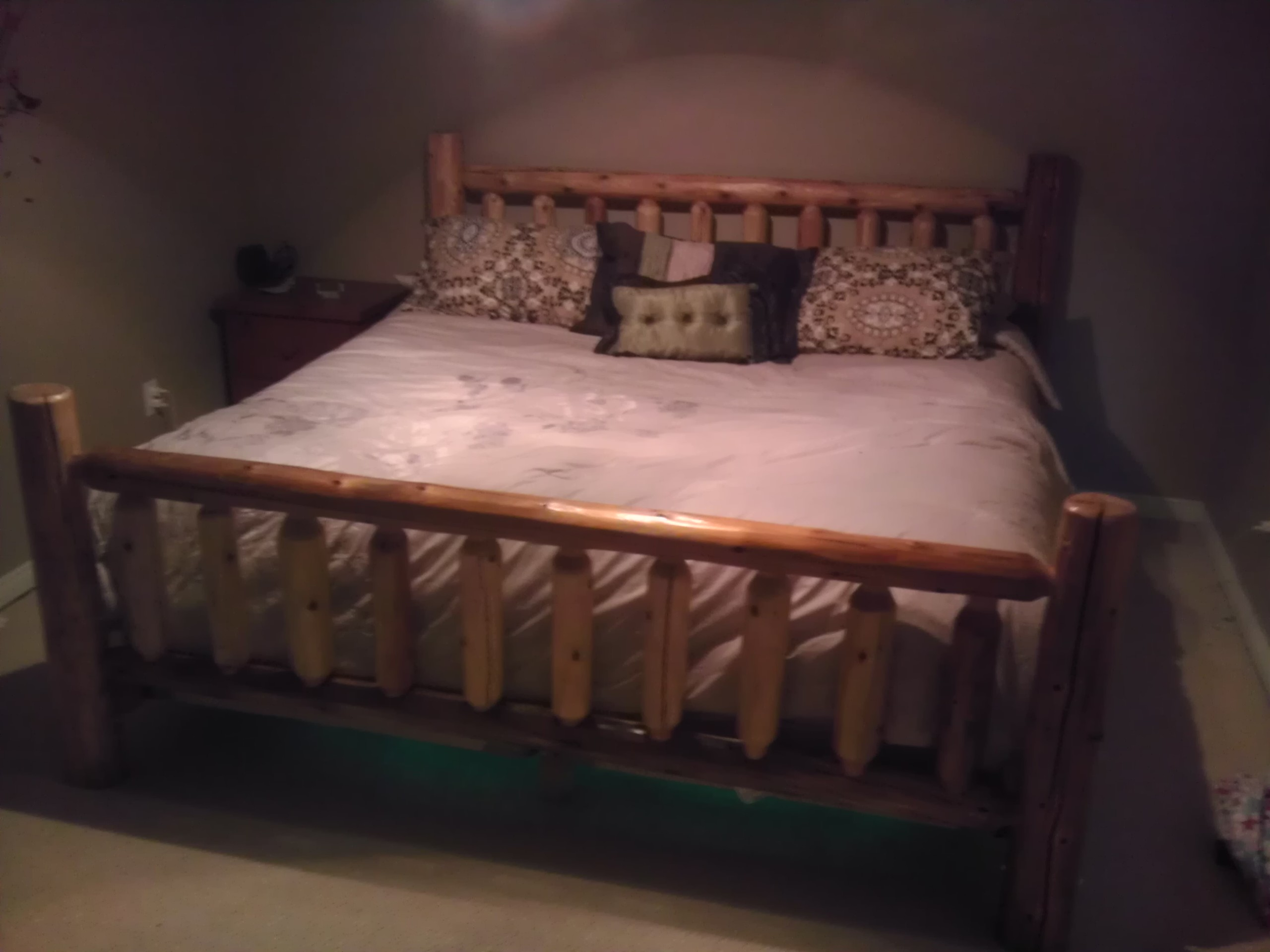 custommade made bed by rustic beds woodshop handmade custom the pet com log therusticwoodshop